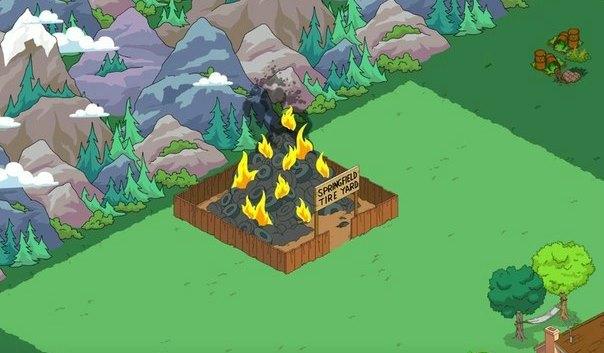 Свалка вечно горящих шин в Симпсонах