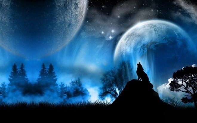 Волчий вой, волк воет